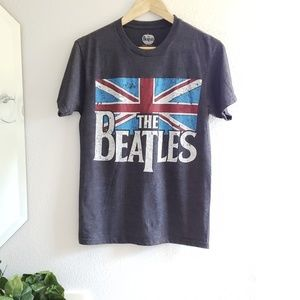 NWOT The Beatles • deep heathered gray tee